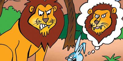 انیمیشن کودکانه داستان شیر و خرگوش