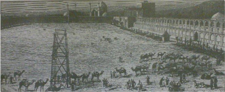 میدان نقش جهان در اواسط دوره قاجار