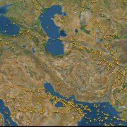کاهش قابل توجه ترافیک پروازهای خارجی بر آسمان ایران