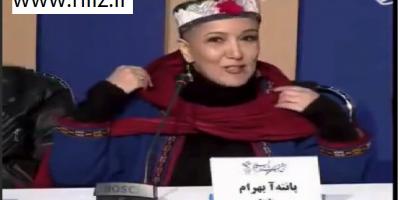 ماجرای برداشتن شال پانته آبهرام در کنفرانس خبری جشنواره فجر 38